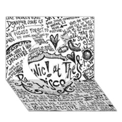 Panic! At The Disco Lyric Quotes Heart 3d Greeting Card (7x5)