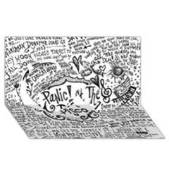 Panic! At The Disco Lyric Quotes Twin Hearts 3d Greeting Card (8x4)