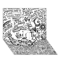 Panic! At The Disco Lyric Quotes Love 3d Greeting Card (7x5)
