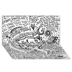 Panic! At The Disco Lyric Quotes Twin Heart Bottom 3d Greeting Card (8x4)