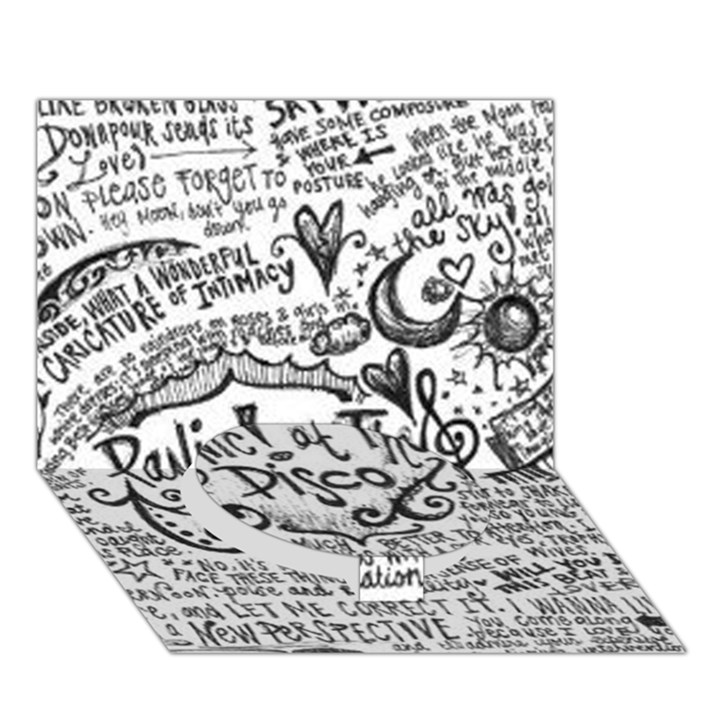 Panic! At The Disco Lyric Quotes Circle Bottom 3D Greeting Card (7x5)