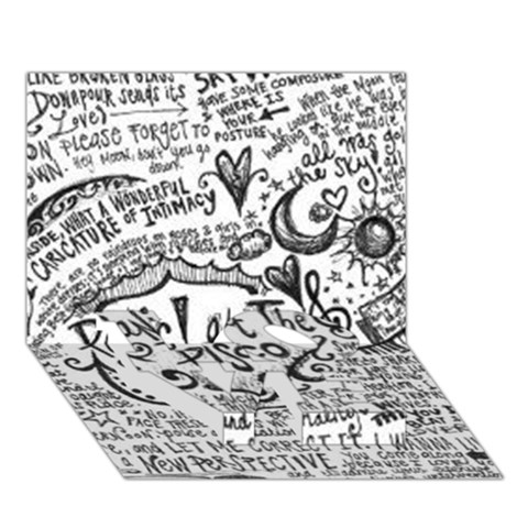 Panic! At The Disco Lyric Quotes LOVE Bottom 3D Greeting Card (7x5)