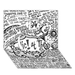 Panic! At The Disco Lyric Quotes Apple 3D Greeting Card (7x5)