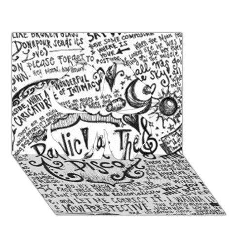 Panic! At The Disco Lyric Quotes Clover 3D Greeting Card (7x5)
