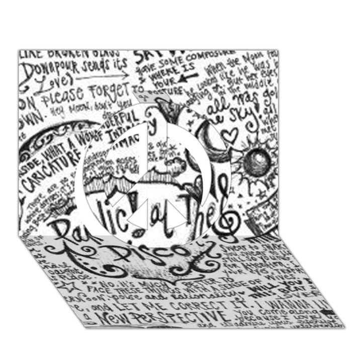Panic! At The Disco Lyric Quotes Peace Sign 3D Greeting Card (7x5)