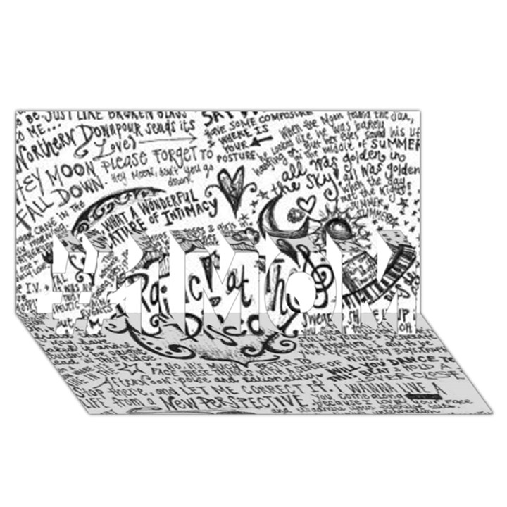 Panic! At The Disco Lyric Quotes #1 MOM 3D Greeting Cards (8x4)