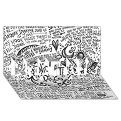 Panic! At The Disco Lyric Quotes BEST SIS 3D Greeting Card (8x4)