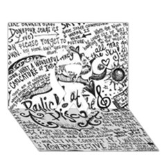 Panic! At The Disco Lyric Quotes Ribbon 3D Greeting Card (7x5)