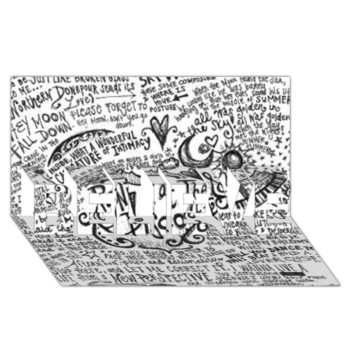 Panic! At The Disco Lyric Quotes BELIEVE 3D Greeting Card (8x4)