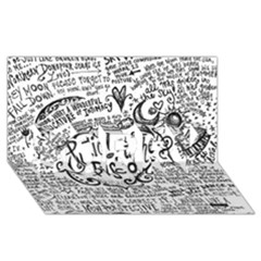 Panic! At The Disco Lyric Quotes SORRY 3D Greeting Card (8x4)