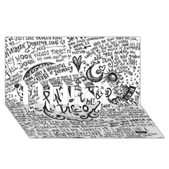 Panic! At The Disco Lyric Quotes HUGS 3D Greeting Card (8x4)