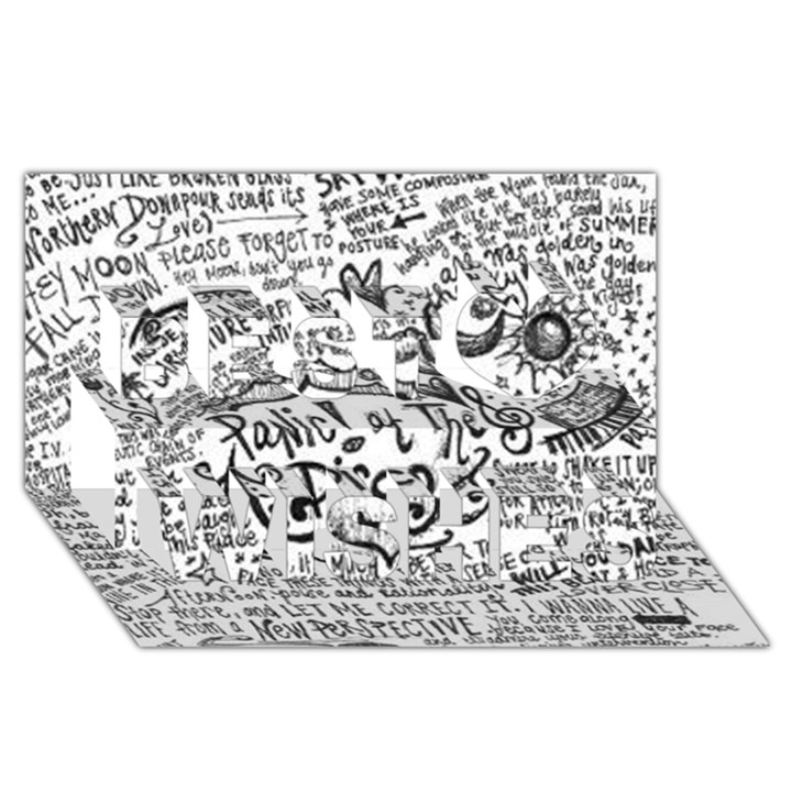 Panic! At The Disco Lyric Quotes Best Wish 3D Greeting Card (8x4)
