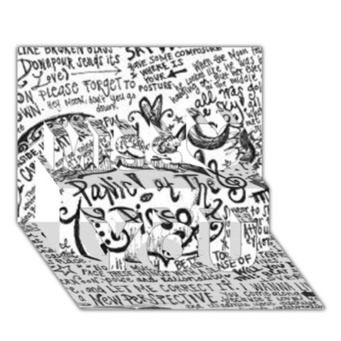 Panic! At The Disco Lyric Quotes Miss You 3D Greeting Card (7x5)