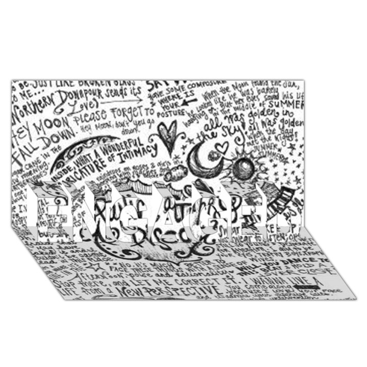 Panic! At The Disco Lyric Quotes ENGAGED 3D Greeting Card (8x4)