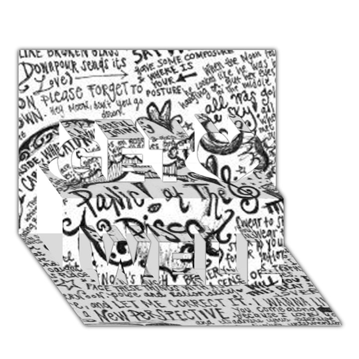 Panic! At The Disco Lyric Quotes Get Well 3D Greeting Card (7x5)