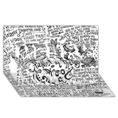 Panic! At The Disco Lyric Quotes Merry Xmas 3D Greeting Card (8x4)