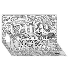 Panic! At The Disco Lyric Quotes Laugh Live Love 3d Greeting Card (8x4)