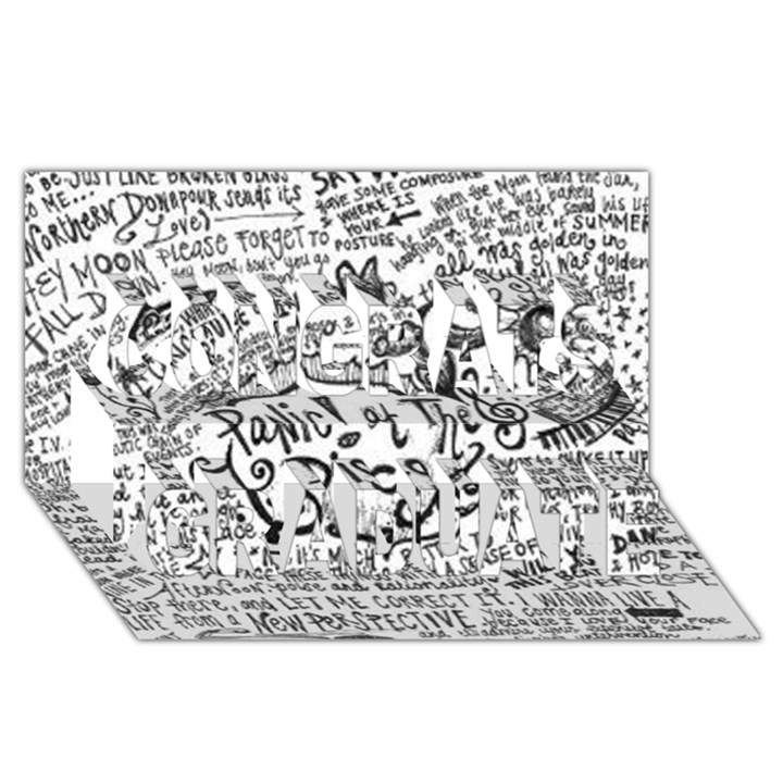 Panic! At The Disco Lyric Quotes Congrats Graduate 3D Greeting Card (8x4)