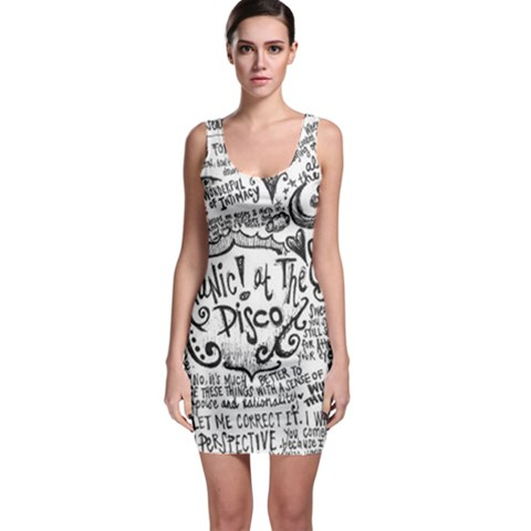 Panic! At The Disco Lyric Quotes Sleeveless Bodycon Dress