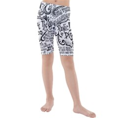 Panic! At The Disco Lyric Quotes Kids  Mid Length Swim Shorts