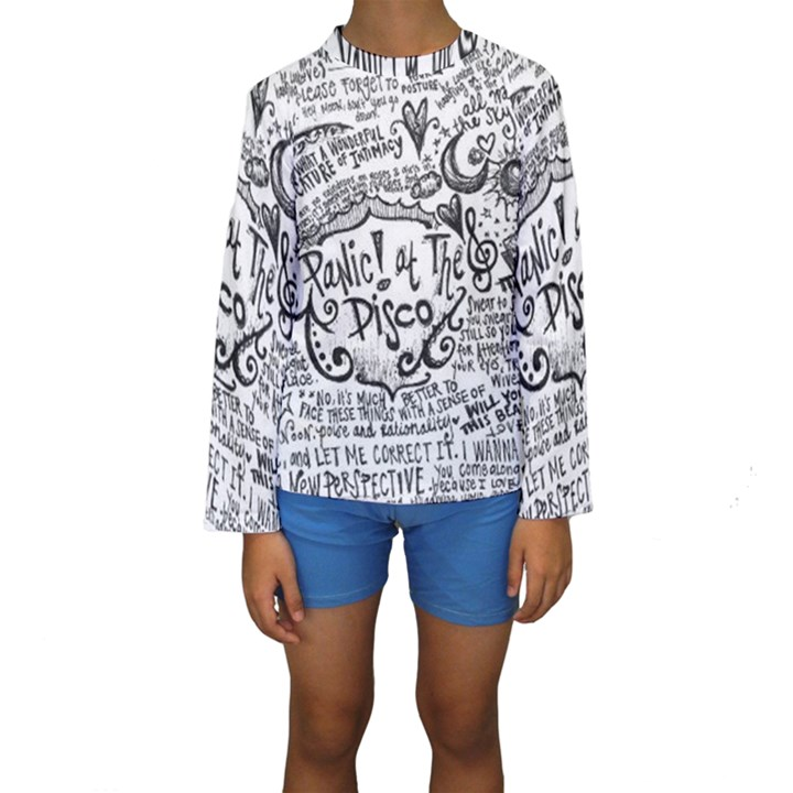 Panic! At The Disco Lyric Quotes Kids  Long Sleeve Swimwear