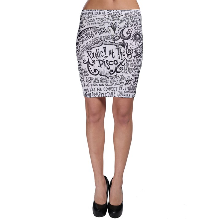 Panic! At The Disco Lyric Quotes Bodycon Skirt