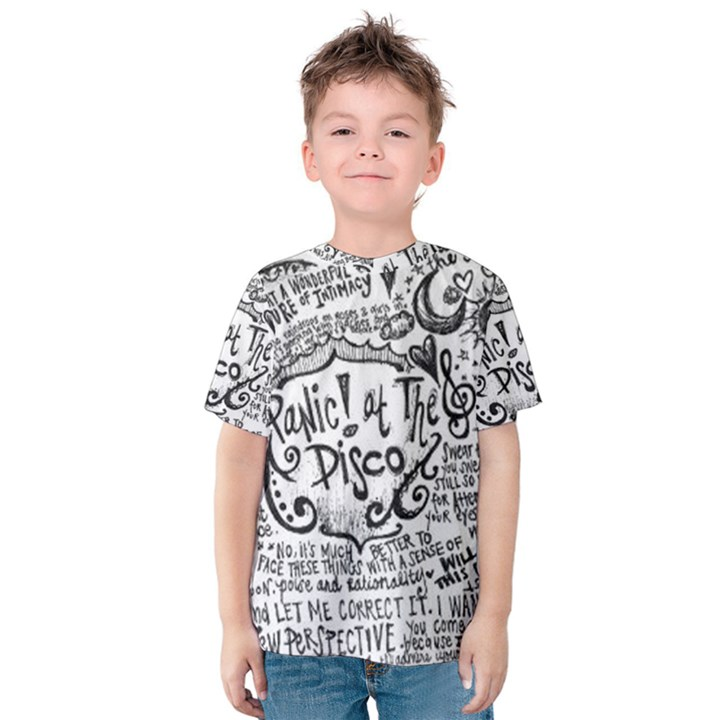 Panic! At The Disco Lyric Quotes Kids  Cotton Tee