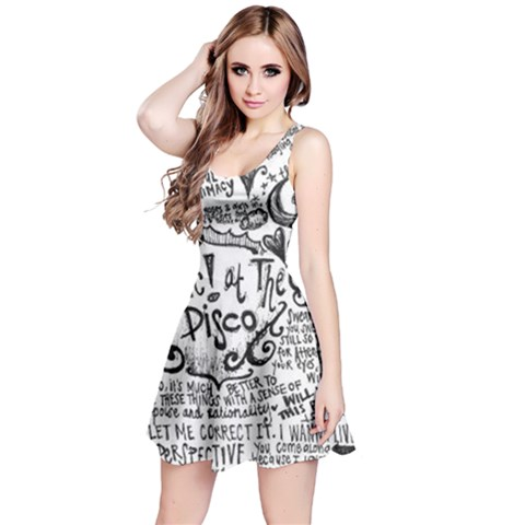 Panic! At The Disco Lyric Quotes Reversible Sleeveless Dress