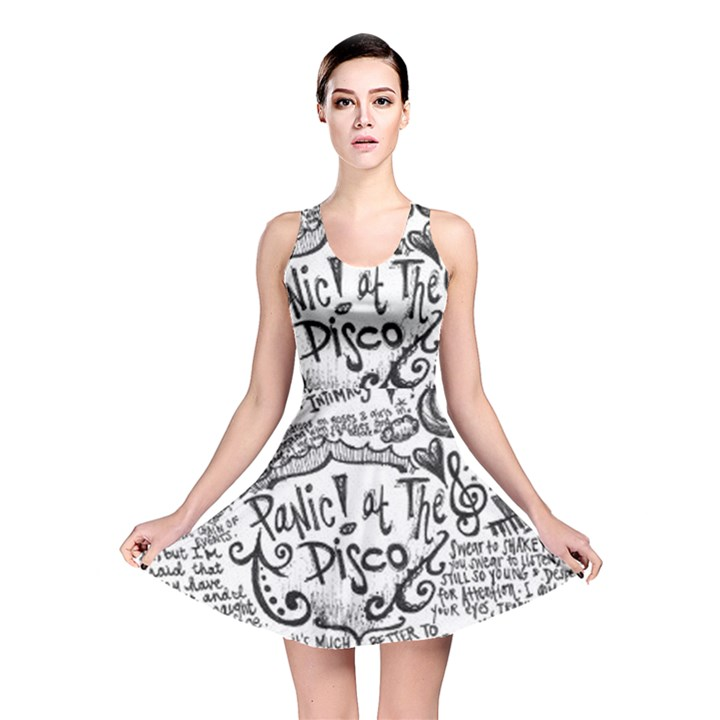 Panic! At The Disco Lyric Quotes Reversible Skater Dress