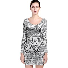 Panic! At The Disco Lyric Quotes Long Sleeve Bodycon Dress