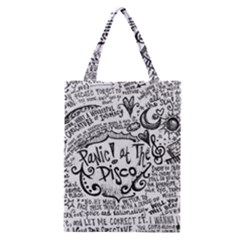Panic! At The Disco Lyric Quotes Classic Tote Bag
