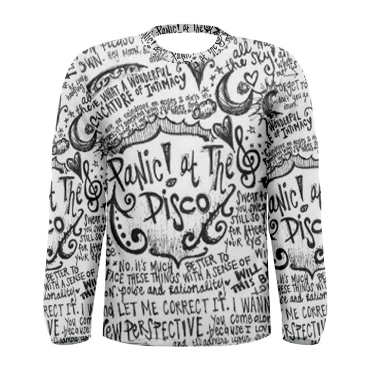Panic! At The Disco Lyric Quotes Men s Long Sleeve Tee