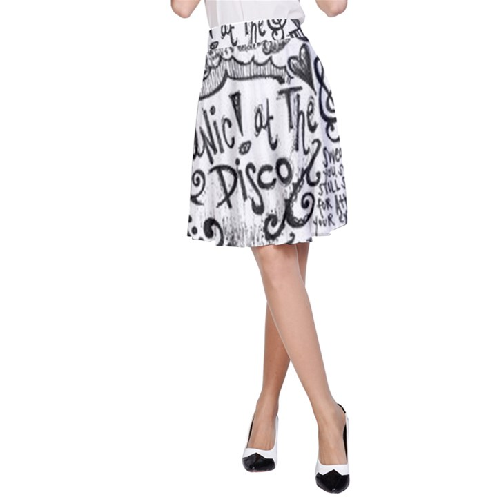 Panic! At The Disco Lyric Quotes A-Line Skirt