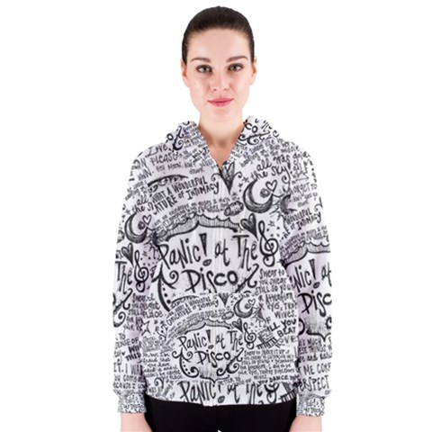 Panic! At The Disco Lyric Quotes Women s Zipper Hoodie