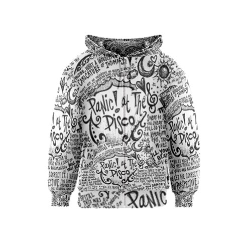 Panic! At The Disco Lyric Quotes Kids  Zipper Hoodie