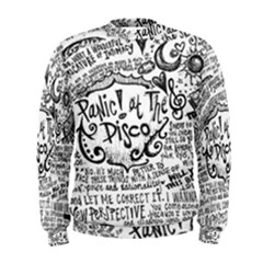 Panic! At The Disco Lyric Quotes Men s Sweatshirt