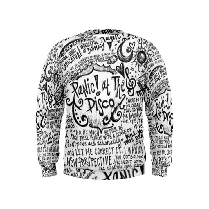 Panic! At The Disco Lyric Quotes Kids  Sweatshirt