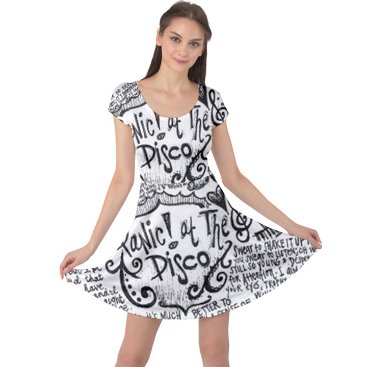 Panic! At The Disco Lyric Quotes Cap Sleeve Dresses