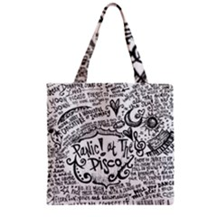 Panic! At The Disco Lyric Quotes Zipper Grocery Tote Bag
