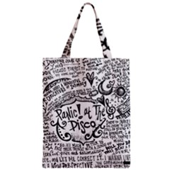 Panic! At The Disco Lyric Quotes Zipper Classic Tote Bag