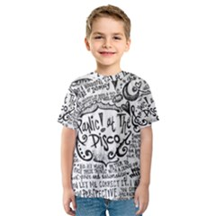 Panic! At The Disco Lyric Quotes Kids  Sport Mesh Tee