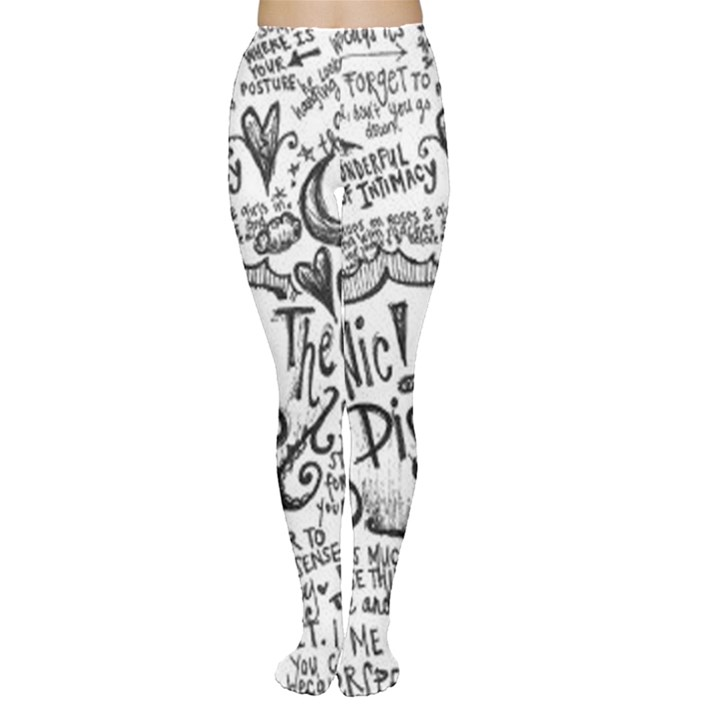 Panic! At The Disco Lyric Quotes Women s Tights