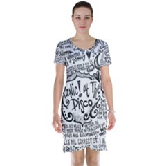 Panic! At The Disco Lyric Quotes Short Sleeve Nightdress