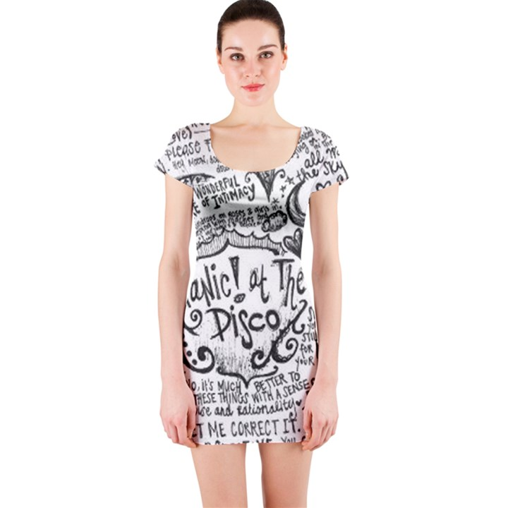 Panic! At The Disco Lyric Quotes Short Sleeve Bodycon Dress