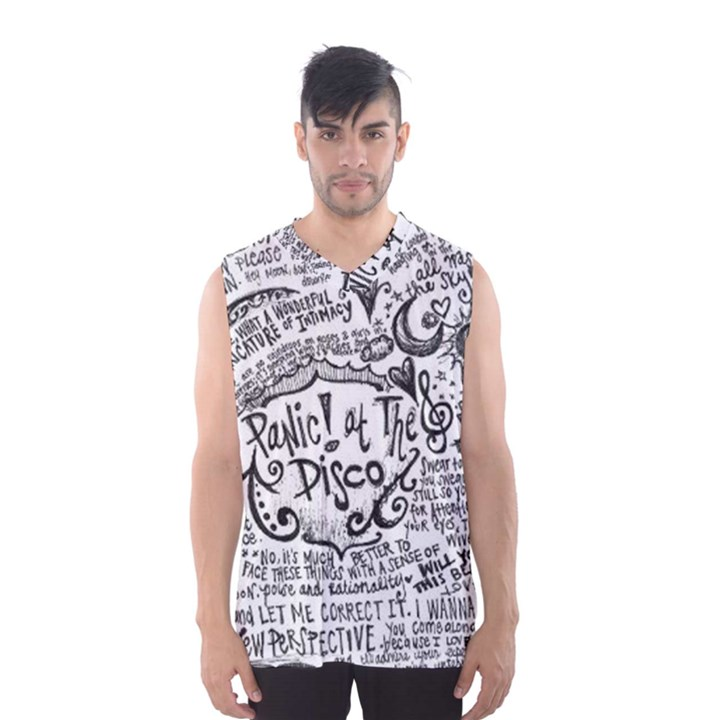 Panic! At The Disco Lyric Quotes Men s Basketball Tank Top