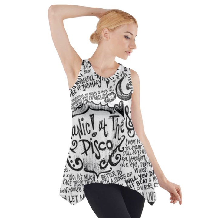 Panic! At The Disco Lyric Quotes Side Drop Tank Tunic