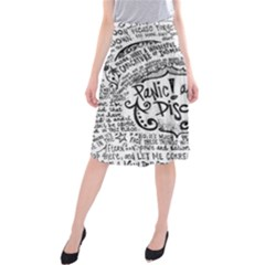 Panic! At The Disco Lyric Quotes Midi Beach Skirt