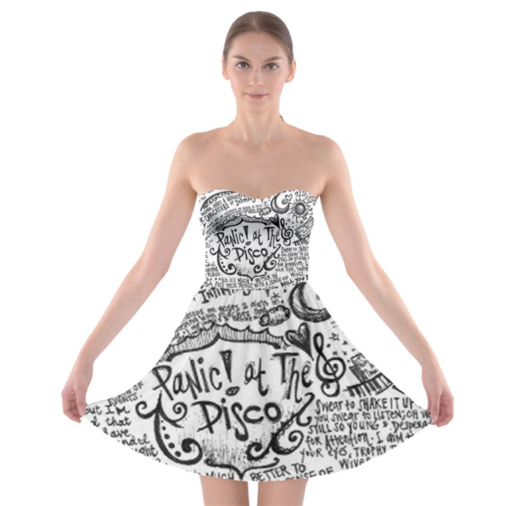 Panic! At The Disco Lyric Quotes Strapless Bra Top Dress