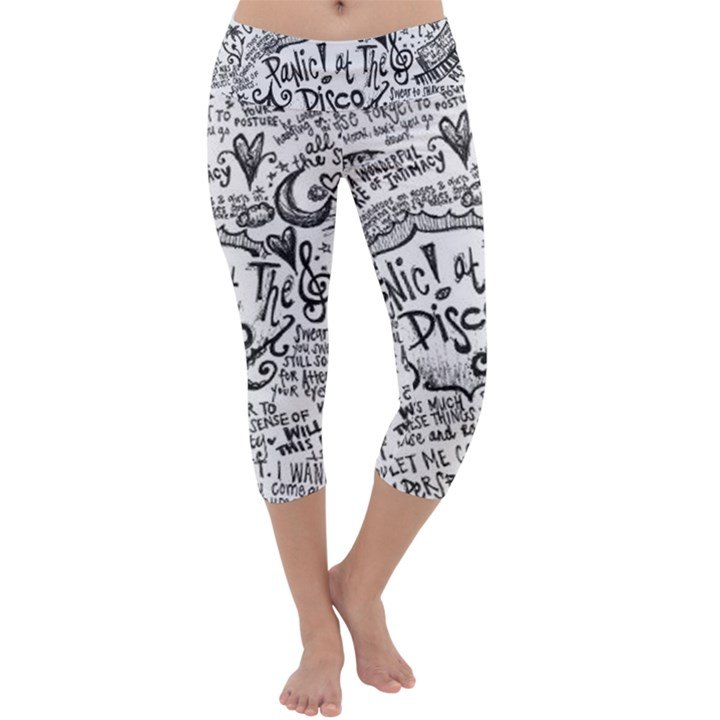 Panic! At The Disco Lyric Quotes Capri Yoga Leggings
