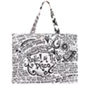 Panic! At The Disco Lyric Quotes Large Tote Bag View2